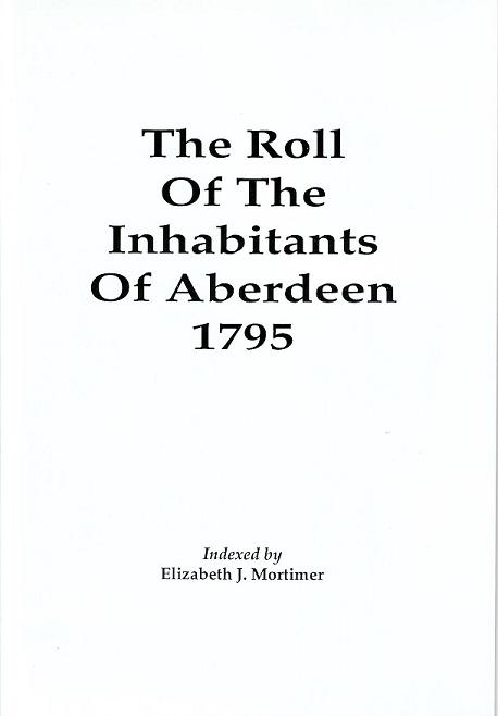 Roll of Inhabitants of Aberdeen